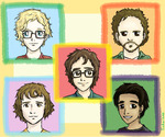LinkaNeo sketch of Ben and the band